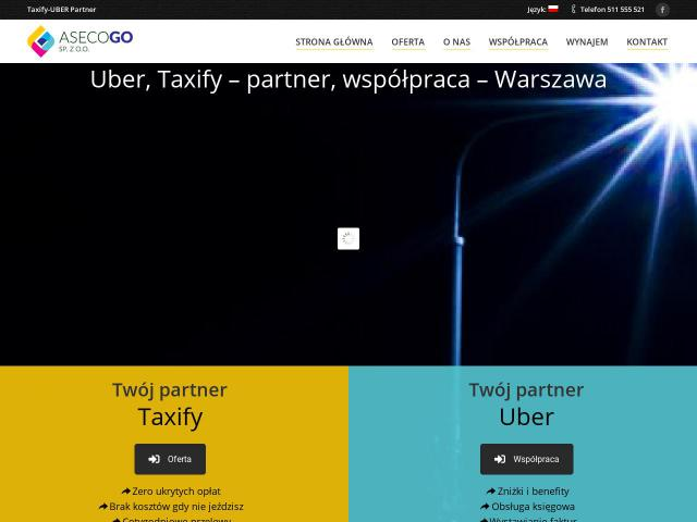 Taxify partner • ASECO - GO